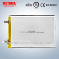 free sample 3.7v 2000mah lithium battery
