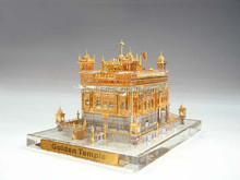 Crystal 24k gold plated golden temple model For Sikhism souvenir gift