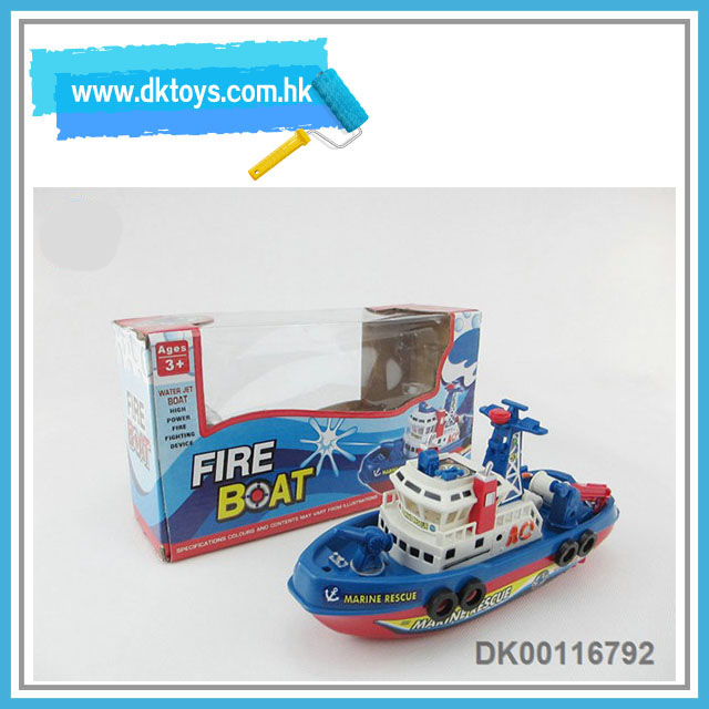 Motor-Driven Cartoon Fire Boat Simulation Marine Rescue Ship Kids Toy With EN71 ASTM Certificate
