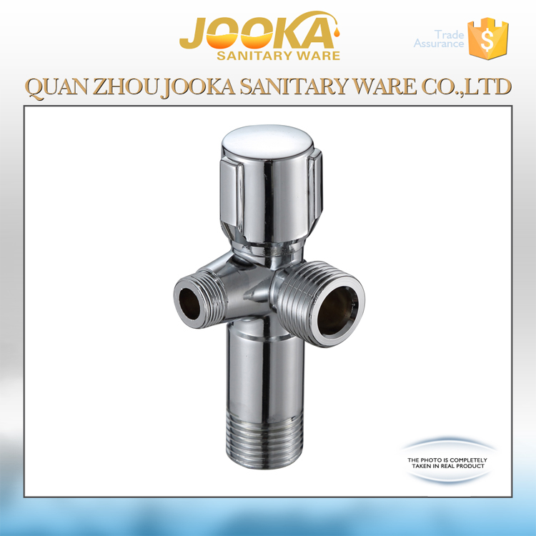 Chinese factory supplier zinc alloy 3 way angle valve