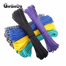 paracord 4mm 550 100ft survival paracord parachute cord lanyard climbing rope outdoor camping hiking equipment
