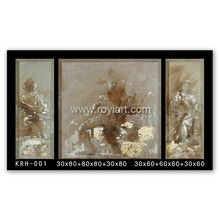 2016 3 panel modern abstract oil painting for living room