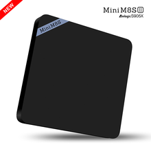 mini m8sii android 6.0 2G RAM 8G ROM Amlogic S905X 2.4G WiFi BT4.0 H.265 4K mini m8s2 s905x android tv box