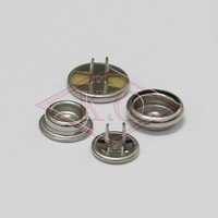 custom metal two-prong snap button for clothes the newest clothing accessories K.O hooks and bars