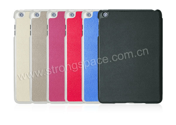 Smart Cover Leather Case Fold Magnetic Stand Holder for iPad Mini - Different Colors