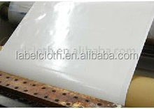 polyester satin material surface back side coated with heat seal label for mattress label/carpet label