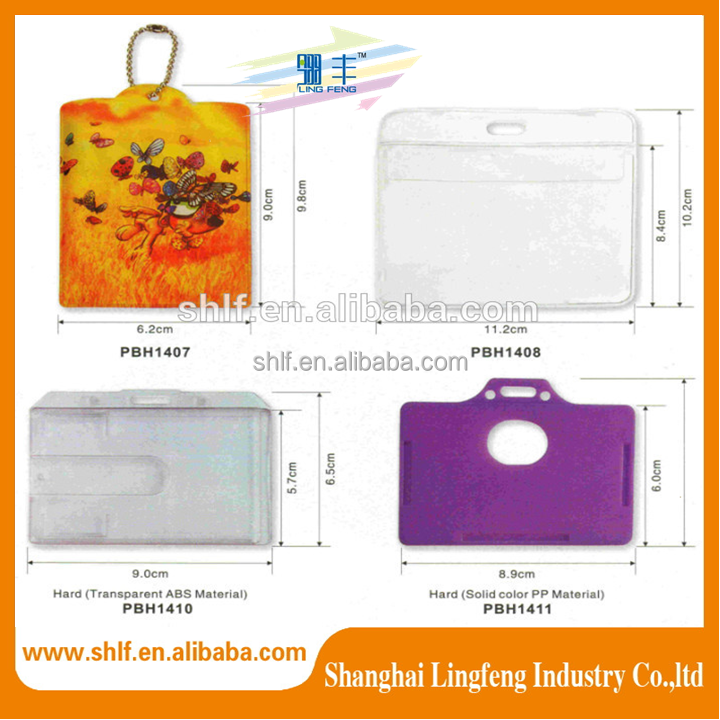 PU PP, PVC custom id card holders