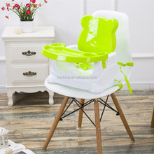Home kitchen use portable adjustable plastic baby dining chair folding baby booster seat feeding chair for children