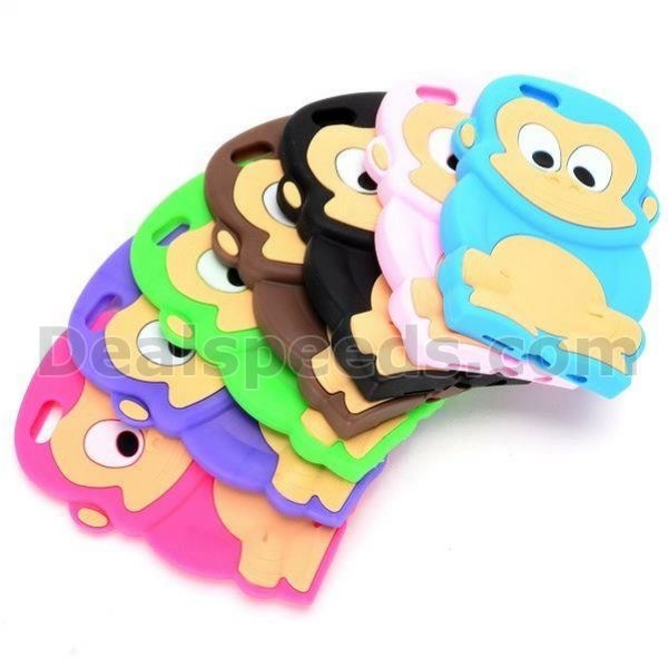 3D Cartoon Monkey Silicone Back Cover Case for iPhone 6 4.7 inch
