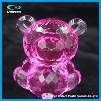 Fashionable PMMA material acrylic bear crafts