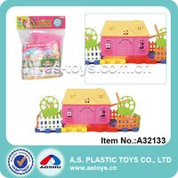 20pcs Brick Toy Plastic City Building Block Toy For Education