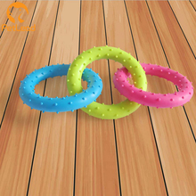 Eco-friendly TPR 3 circle dog toy set lucky dog toy manufactures dog chew toy