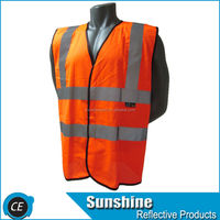 Reflective traffic disposable orange hunting vest