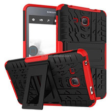 Stand TPU ballistic armor case for Samsung Galaxy Tab A 7.0 T280/285 bumper back cover