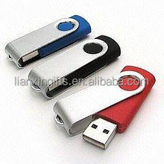Metal swivel usb flash drive , USB