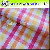 New style yellow blue plaid fabric