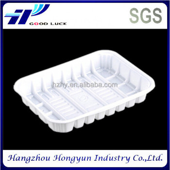 Eco-friendly custom disposable clear plastic packaging food blister tray for fruit/vegetable/frozen food