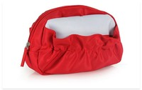Multi-pocket Red Fashion Cosmetic Makeup Storage Case