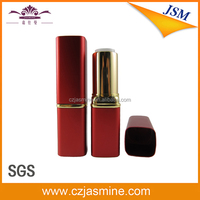 china square metal wholesale red empty lipstick tube