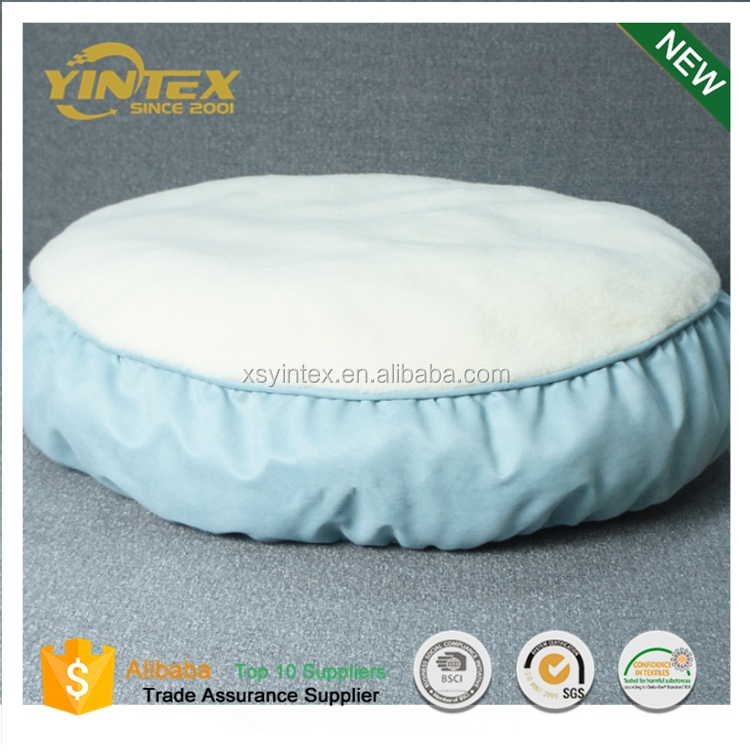 Fashion style cotton pet washable round dog bed mat house kennel