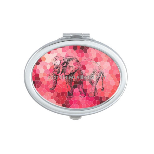 Red Marble Tiny Cheap Makeup Mirror