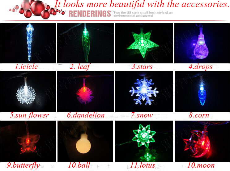 Yuegang Optical Led string lights led decorative curtain light
