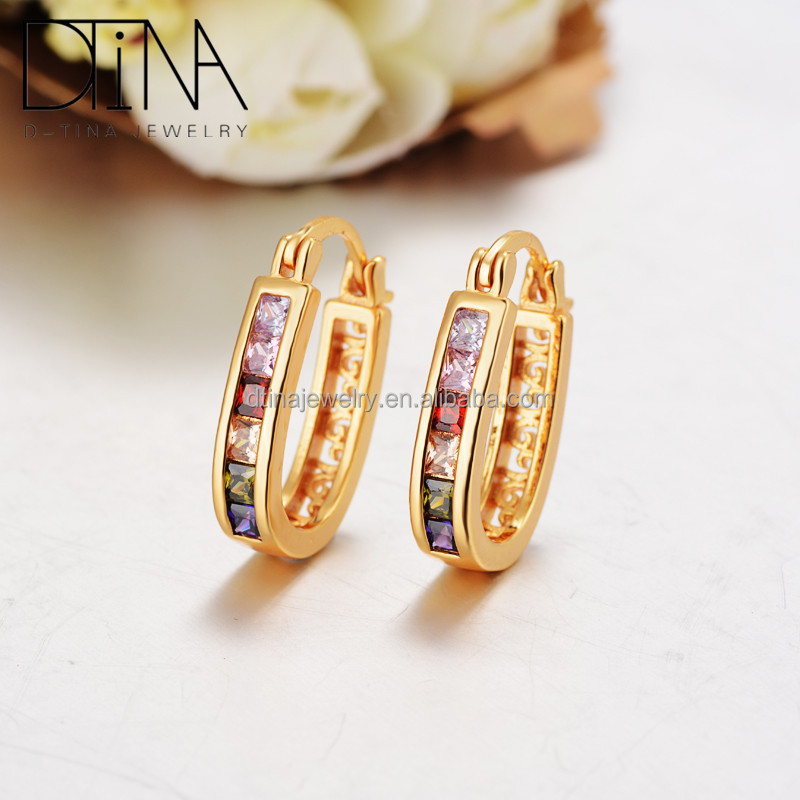 2016 fashion jewelry gold earring latest design charm of South America sell like hot cakes style earrings
