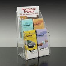 Countertop 2-pocket Clear Acrylic Digest Size Brochure Literature Holder