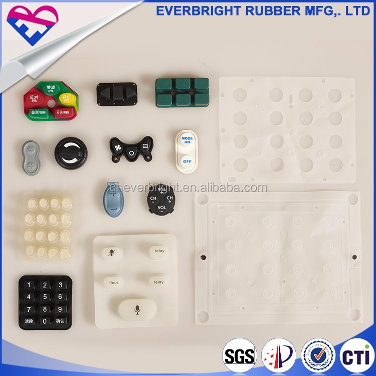 Custom personalized car remote electronic silicon rubber buttons/conductive silicone rubber buttons/wearable rubber keypad