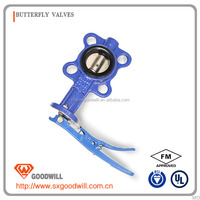 iron grooved butterfly valve without rubber lining