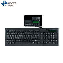 Plug and Play USB Reading ISO-7816 Card PC Keyboard With Smart Card Reader HCC160N