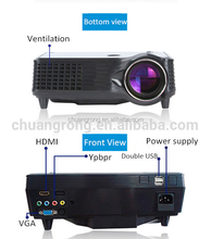 Mini 800*480 Portable LED Lamp LCD Home Cinema Projector