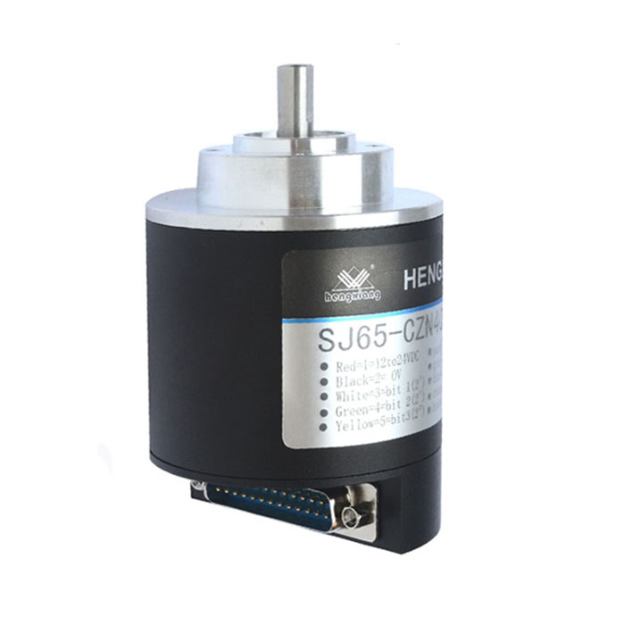 solid shaft SJ65 Optical Rotary Absolute Encoder 8bit encoder DC24V