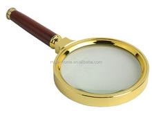High quality magnifier wooden handle / Reading Magnifying Glass Lens / Handheld Magnifier