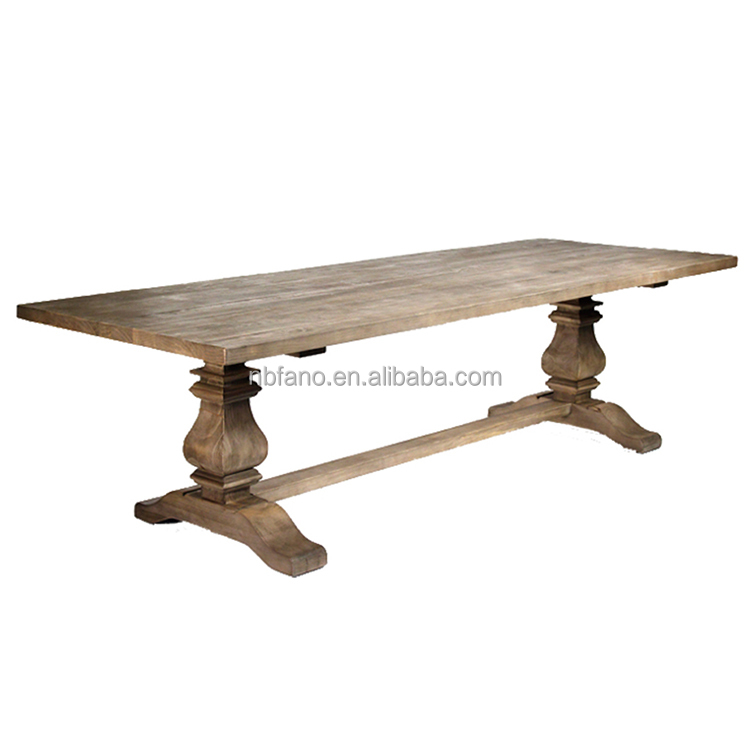FN-6556 luxury newest design natural wood dining table