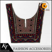 Wholesale top quality nation neck design applique patches embroidery