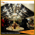 Large marquee wedding tent with decorationed