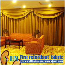 Luxury European design sliding window flame retardant window screen curtain XJC 0022