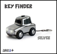 latest promotional gift Silver Car metal led key chain