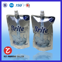 plastic stand up beer pouch with spout