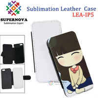 Hot Sublimation Leather Cell Phone Case for iPhone 5