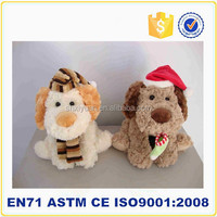 plush toy animals with voice recorder for toy fabric