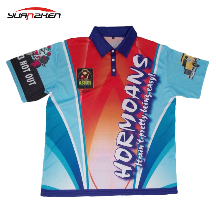 Professional club zip up collar quick dry light racing Polo shirt