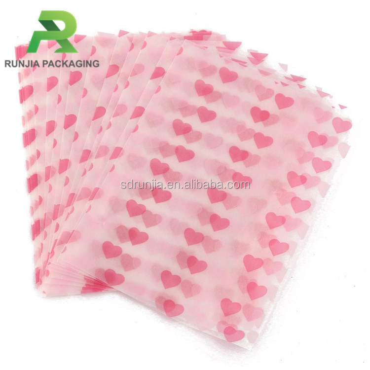 Colored Printed Patterned Candy Wrapping Wax Coated Paper