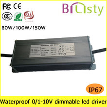 70w constant current 0-10v dimmable led driver ip67 with 3 years warranty