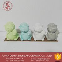 Ceramic monkey figurines decor home