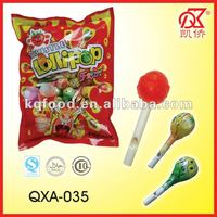 10g Halal Fruity Lollipop Whistle Stick