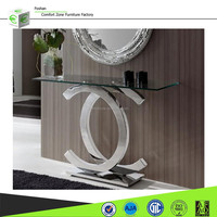 DN03 French half moon console table and wall mirror