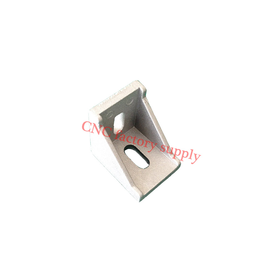 HOTSale 3030 corner fitting angle aluminum connector bracket fastener 20/30/40/45/60/80 series industrial aluminum profile