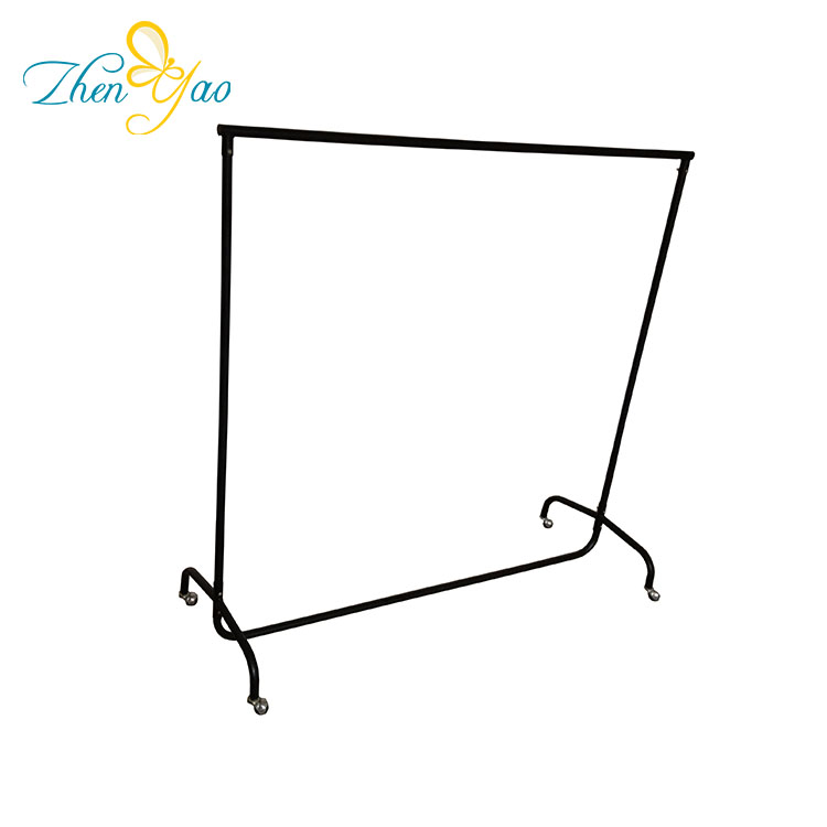 Folding Iron Hanging Clothes Drying Rack With Carry Bag